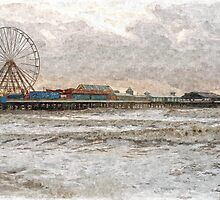 Central Pier Blackpool in Oils by DavidWHughes