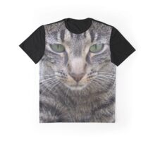 Big Cat Face Graphic T-Shirt