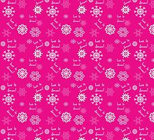 Let It Snow Pink Snowflake Pattern by 2HivelysArt