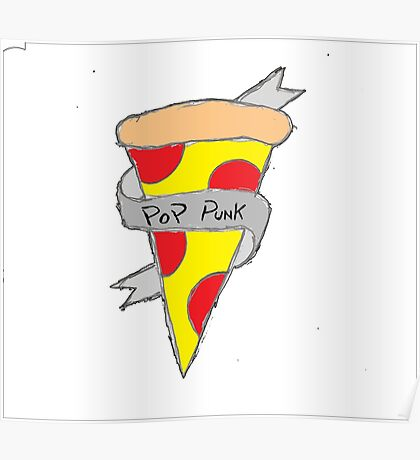 Pop Punk Pizza Poster