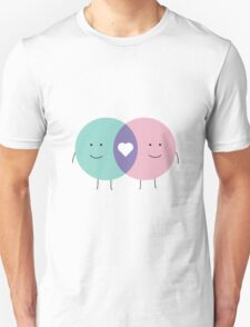 Venn diagram LOVE Unisex T-Shirt