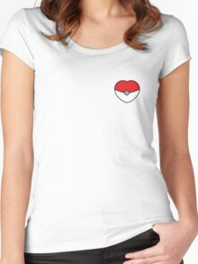 POKEBOLA HEART POKEMON GO Women's Fitted Scoop T-Shirt