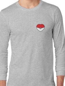 POKEBOLA HEART POKEMON GO Long Sleeve T-Shirt