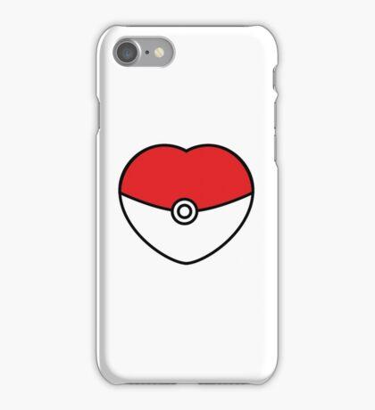 POKEBOLA HEART POKEMON GO iPhone Case/Skin