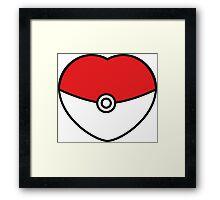 POKEBOLA HEART POKEMON GO Framed Print