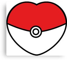 POKEBOLA HEART POKEMON GO Canvas Print