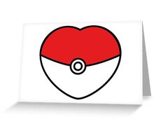 POKEBOLA HEART POKEMON GO Greeting Card