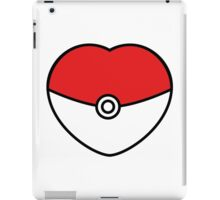 POKEBOLA HEART POKEMON GO iPad Case/Skin
