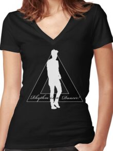 Rhythm is a Dancer Women's Fitted V-Neck T-Shirt
