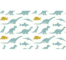 Dinosaurs silhouettes Photographic Print