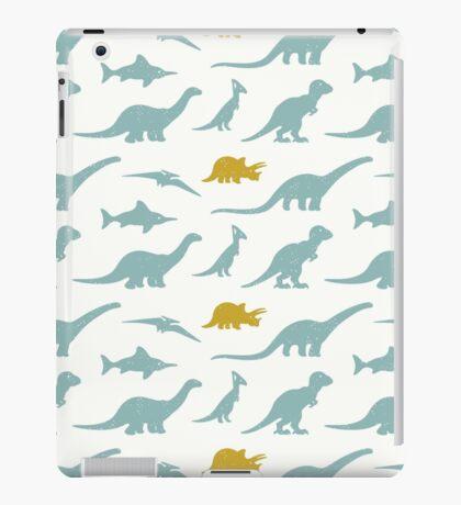 Dinosaurs silhouettes iPad Case/Skin