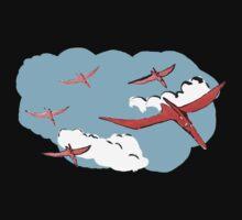 Pterodactyl Flying Squadron Kids Tee