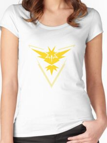 Pokemon Go - Team Instinct - Yellow Women's Fitted Scoop T-Shirt
