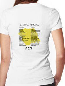 Le Tour de Yorkshire 2014 Back Womens Fitted T-Shirt