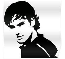 Roger Federer - No Bandana (Official Genius Banner Design) Poster