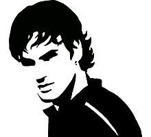 Roger Federer - No Bandana (Official Genius Banner Design) Photographic Print