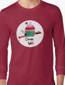Cupcake with WiFi Long Sleeve T-Shirt
