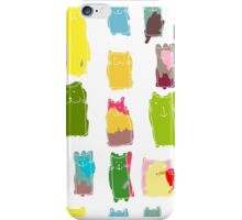Texture with colorful cats with curved tails. Can be used for textile, website background, book cover, packaging. iPhone Case/Skin