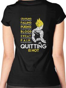 Never Quit - Vegeta Women's Fitted Scoop T-Shirt