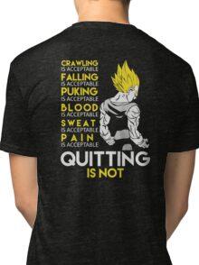Never Quit - Vegeta Tri-blend T-Shirt