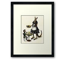 Kangaroo cafe Framed Print
