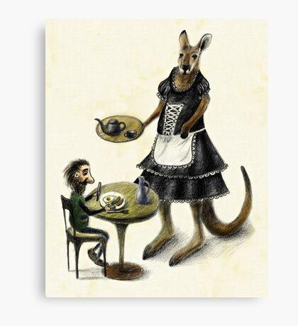 Kangaroo cafe Canvas Print