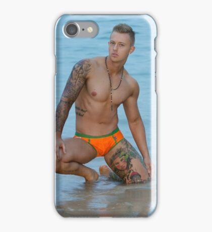 Justin on the beach iPhone Case/Skin