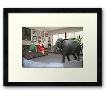 I know you always avoid conflict, but seriously, we really should address the elephant in the room. Framed Print