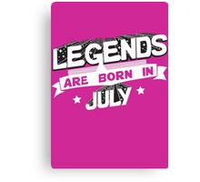 Born in July Canvas Print