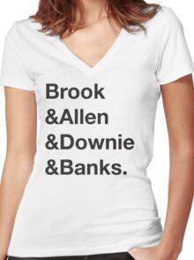 Helvetica Brook Shirt Women's Fitted V-Neck T-Shirt