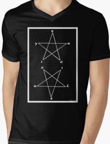 """Magick Pythagorean Pentagram """"HYGEIA"""" Mens V-Neck T-Shirt"""
