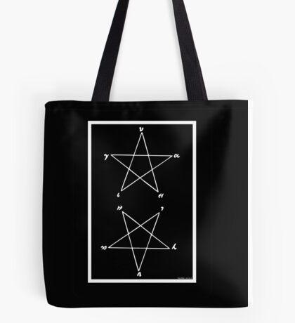 """Magick Pythagorean Pentagram """"HYGEIA"""" Tote Bag"""