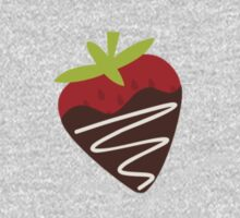 Chocolate Covered Strawberries One Piece - Short Sleeve