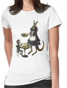 Kangaroo cafe Womens Fitted T-Shirt