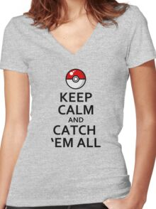 Pokemon Go Women's Fitted V-Neck T-Shirt