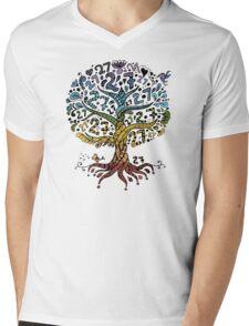 Floral tree beautiful, summer Mens V-Neck T-Shirt