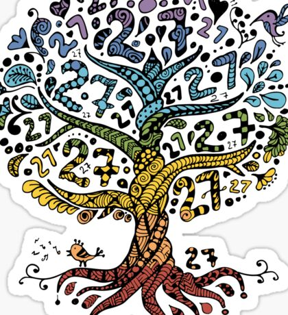 Floral tree beautiful, summer Sticker