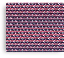 Sailor Stripes Ahoy Red Blue & White Canvas Print