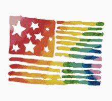 Rainbow flag (non-blurred) Kids Tee