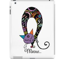 Rainbow cat silhouette collection. Black cats in various poses. iPad Case/Skin