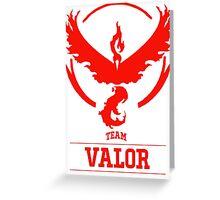 Pokemon Go : Team Valor Greeting Card