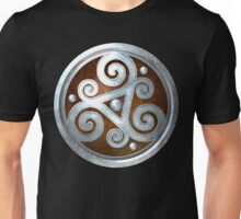 Brown Double Celtic Triskelion Unisex T-Shirt