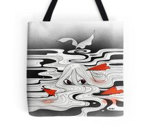 Red paper plane Tote Bag