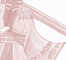 Auron (Final Fantasy X) (red) Sticker