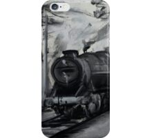 Steam Locomotive England Rail Travel Charoals iPhone Case/Skin