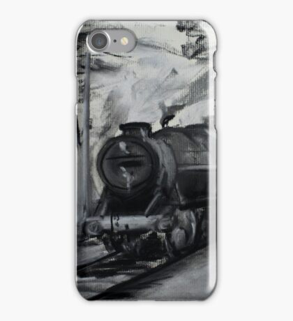 Steam Locomotive England Rail Travel Charoals iPhone Case/Skin
