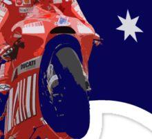 Casey Stoner rides a Ducati Sticker