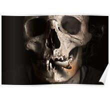Dead Skull Smoking Poster