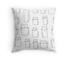 Texture with colorful cats with curved tails. Can be used for textile, website background, book cover, packaging. Throw Pillow