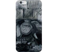 Steam Train Tamworth Station Staffordshire England Charcoals iPhone Case/Skin